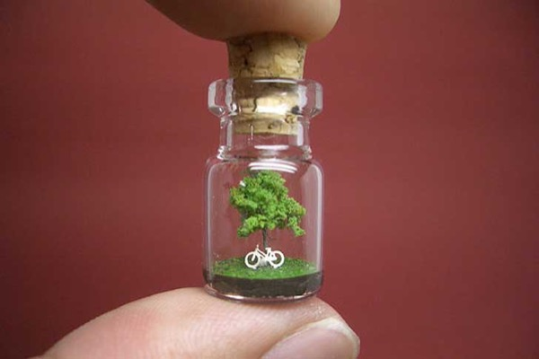 Tiny Worlds in Bottles