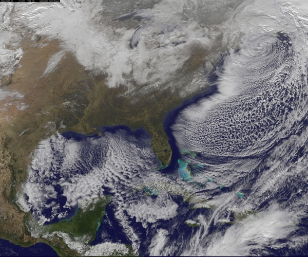 Blizzard on East Coast of North and Central America 1993