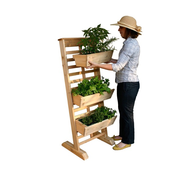 Vertical GRO System with 3-Planter Boxes